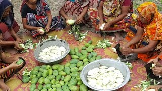 50 KG Green Mango Prepared / Cooking By Villagers For Charity Foods To feed Children