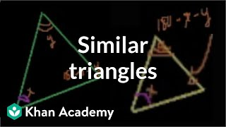 Similar triangles | Similarity | Geometry | Khan Academy