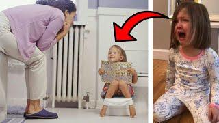 """كانت الام تحاول اقناع ابنتها دخول الحمام .. و فجأة """" لن تتخيل ما حدث """" شاهد المفاجئة!!"""