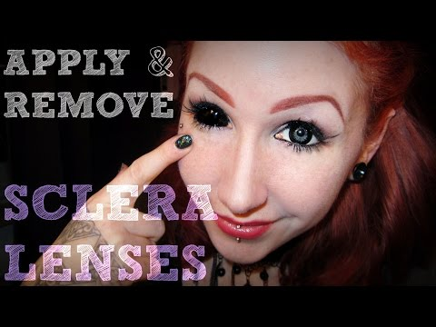 How I insert and remove my Sclera Lenses.