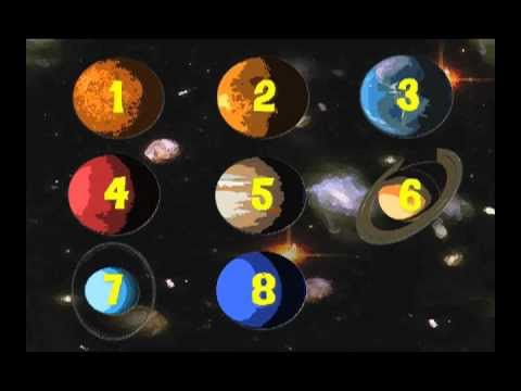 The Planets Name and Counting Song Learning video for kids