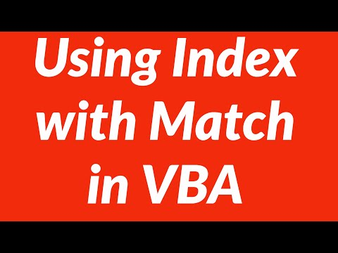 Using Index with Match in VBA for Lookups