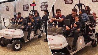 Salman Khan With CUTE Nephew Ahil Leaves For Hong Kong, DaBangg Tour 2017