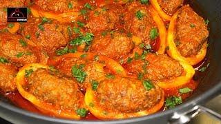 Meatballs with Potatoes In Tomato Sauce - Delicious Lunch Recipe - قورمه کوفته و کچالو