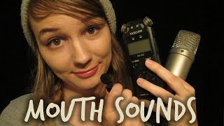 ASMR Tingly Mouth Sounds & Unintelligible Whispering (Hi-Fi to Lo-Fi)