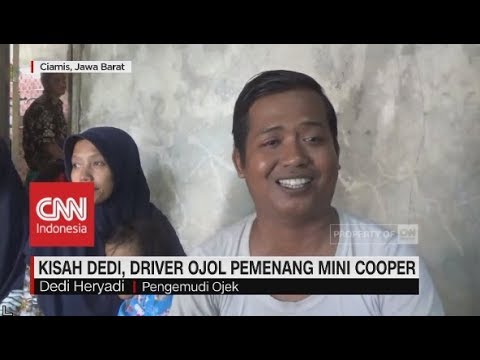Kisah Dedi, Driver Ojol Pemenang Mini Cooper Seharga Rp12 Ribu