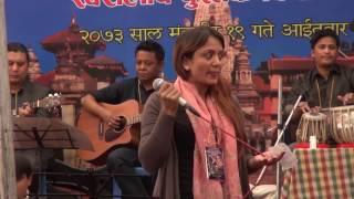 Meena Pokhrel Niraula performing Narayan Gopal's song Maile Punye Man Paraye