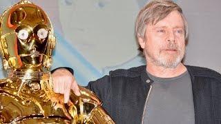 Mark Hamill,Adam Driver, / Star Wars: Episode VIII - The Last Jedi Press Conference at Tokio