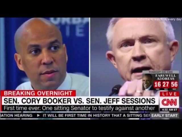 Sen Cory Booker VS Senator Jeff Session unprecedented ,Sessions failed to disclose oil interests