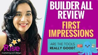 Builderall Review : 'FIRST IMPRESSIONS' - Are the Tools Any GOOD??