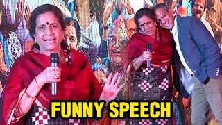 Hilarious Speech By Usha Nadkarni | Meet The Cast Of Ventilator | Marathi Movie 2016 | Zee Studios
