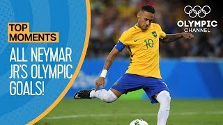 Neymar Jr. | All Olympic Goals! | Top Moments