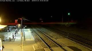 Amtrak equipment move @ La Plata, Missouri USA