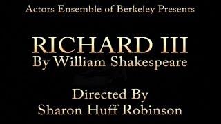 Richard III - Directed by Sharon Robinson