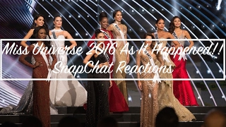 REACTION - Through My Snap: Miss Universe 2016 As It Happened | Anferne