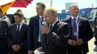 """شوخی پوتین با رئیس شرکت دولتی """"روس تک"""""""