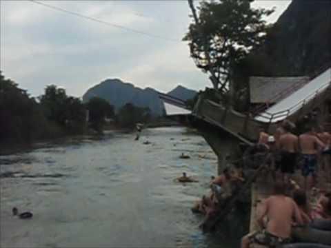 crazy tubing in laos