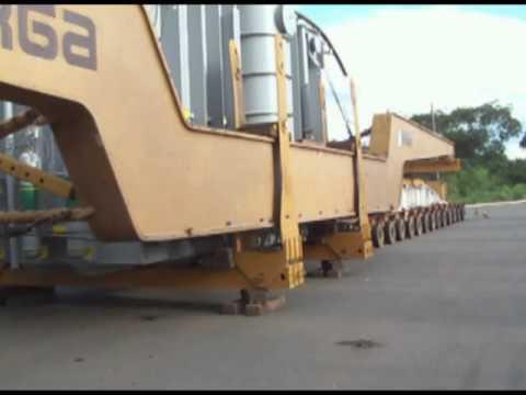 Mega transformador causa lentidão na BR 153 Folha de Jaraguá