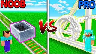 Minecraft NOOB vs PRO - TALLEST ROLLERCOASTERS in Minecraft!