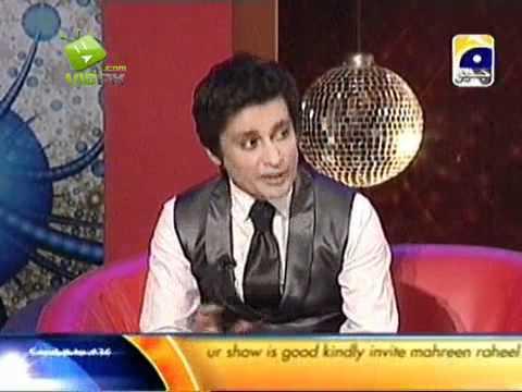 Imran Abbas & Annie in The Sahir Show on Geo Tv Part 4