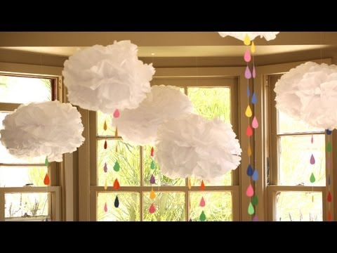 How to Make Tissue Paper Clouds   Kin Community