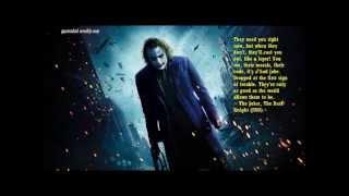 The Joker Best Quotes-heath ledger