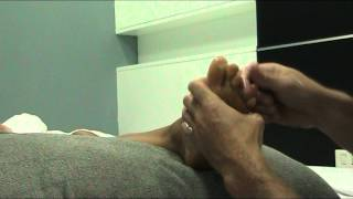 Second in the slow motion reflexology series