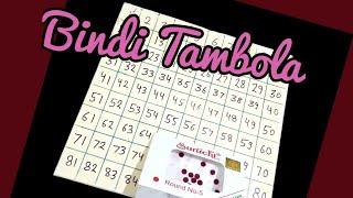 Bindi Tambola game for ladies kitty party/teej theme party housee.