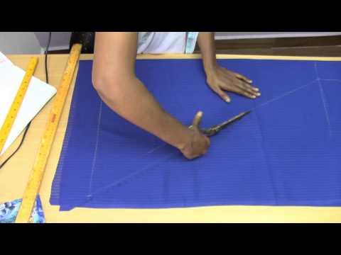 Kids Fish Tail Dress 1. Marking and Cutting