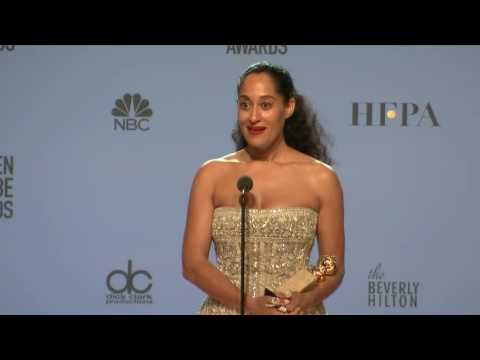 Tracee Ellis Ross Golden Globes 2017 Full Backstage Interview