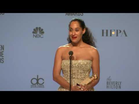Tracee Ellis Ross Golden Globes 2017 Full Backstage Interview
