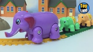 Elephant Train Toy for Children Videos For Kids TRAIN TRACK SET