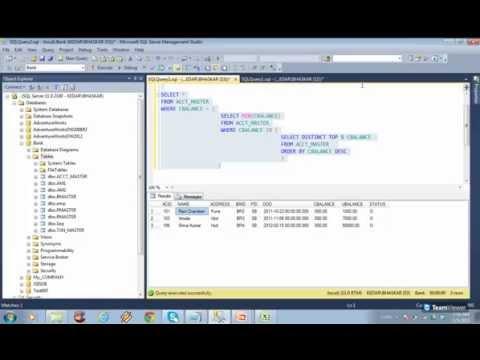 SQL Server - SubQueries and Correlated SubQueries