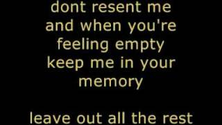 Leave out all the rest - LINKIN PARK lyrics