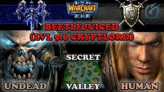 Grubby | Warcraft 3 The Frozen Throne | UD v HU - Beetle Juiced (Lvl 9.6 Cryptlord)  - Secret Valley