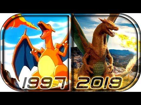 EVOLUTION of CHARIZARD 🔥in Movies Cartoons TV 1997 2019 Pokemon Detective Pikachu charizard scene