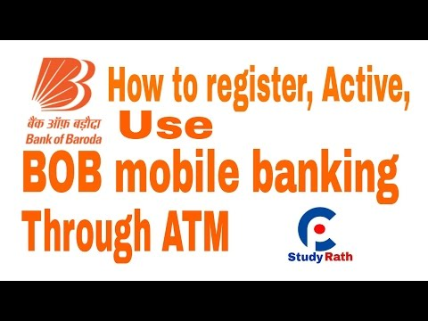 Bank of Baroda Mobile banking M-Connect registration through ATM, activation and use