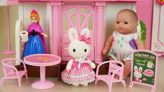 Baby doll Rabit house and Elsa Pororo toys