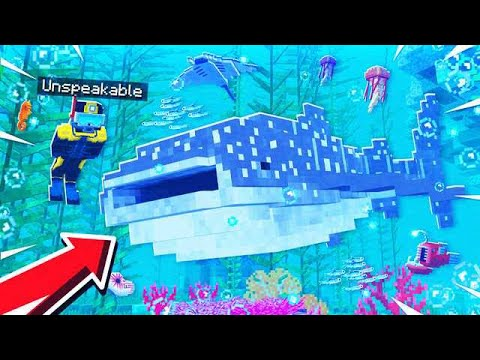 SWIMMING WITH THE BIGGEST SHARK S IN MINECRAFT