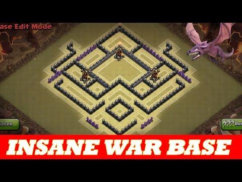 insane th8 war base anti air drag anti hog 2 defensive replays