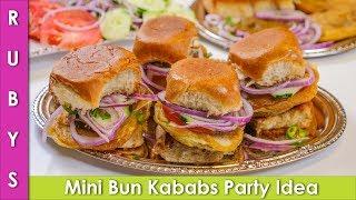 Mini Bun Kababs Street Style Iftar Party Idea Ramadan Recipe in Urdu Hindi - RKK