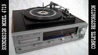 Vtg SOUNDESIGN 8 Track Turntable AM-FM Stereo Receiver Model# 4719 Restoration ep-01