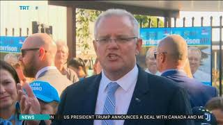 PM Morrison votes in Australian election