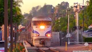 HD HIGH SPEED!!! Amtrak Trains in Encinitas, CA (November 9th, 2013) + 3 BONUS SHOTS !!!
