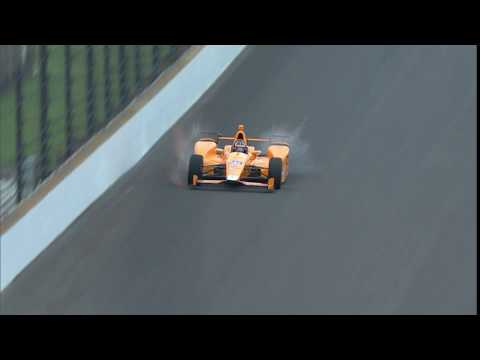 Fernando Alonso Hits Two Birds At IMS
