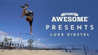 People Are Awesome Presents: Luke Diestel   Slackline