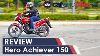 New Hero Achiever 150 Review - NDTV CarAndBike
