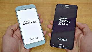 Samsung Galaxy A5 (2017) vs Galaxy J7 Prime - Speed Test! (4K)