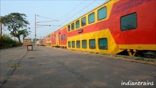 indiantrains@2 superfast trains, mumbai ahmedabad double decker & duronto express at vaitarna india