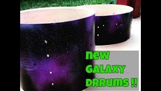 How I made my galaxy drums !!!